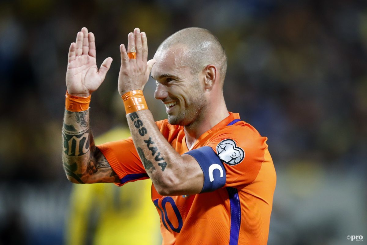 Wesley sneijder is op jacht naar record international schap