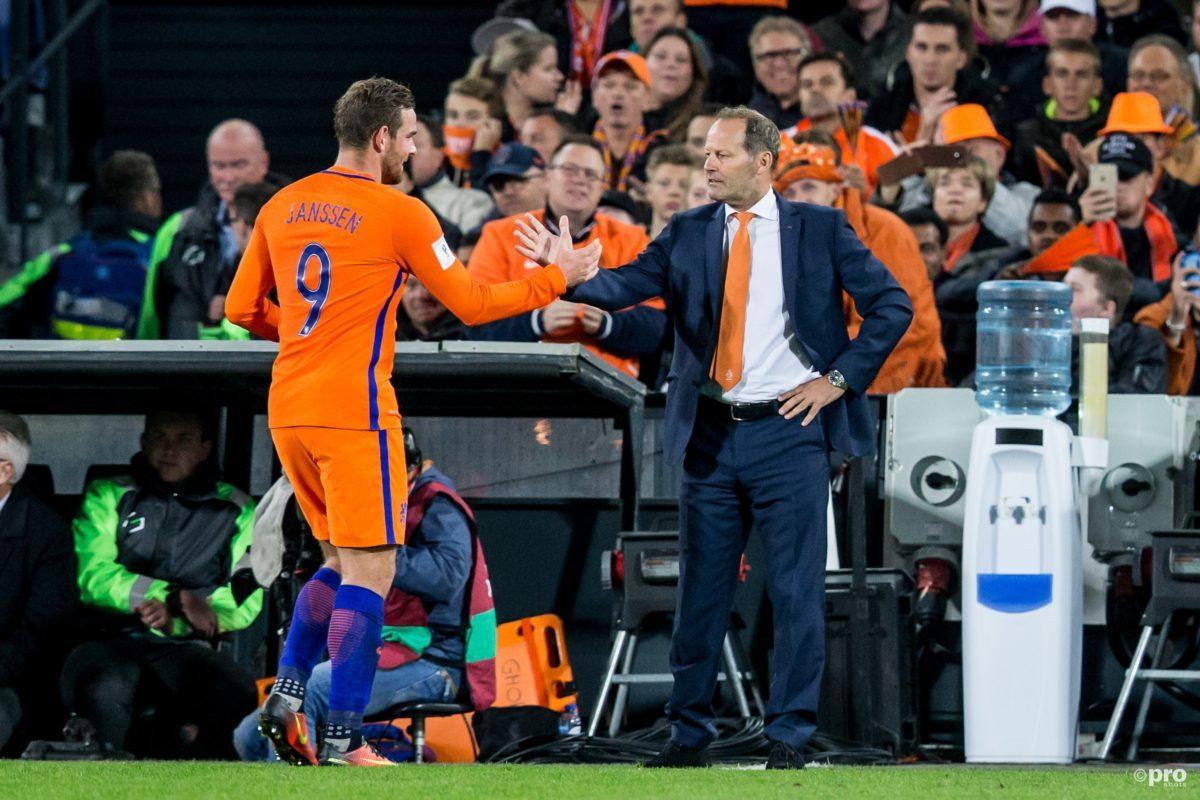 De opstelling voor Nederland - België