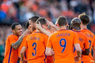 Opstelling Nederland – Luxemburg