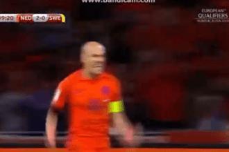 Oranje met heerlijke treffer van Robben op 2-0