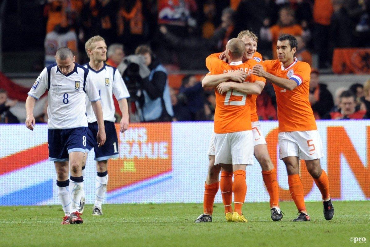 Oranje oefent tegen Schotland