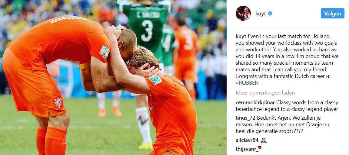 Voetbalwereld bedankt legende Robben voor 'fantastische tijd'