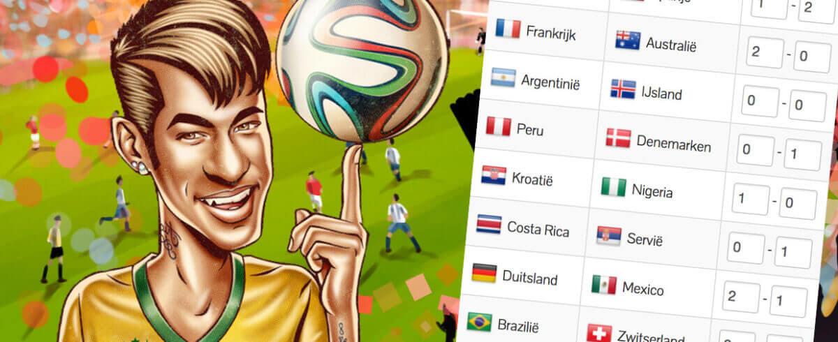 Helaas geen Oranje, maar win toch met de WK-pool