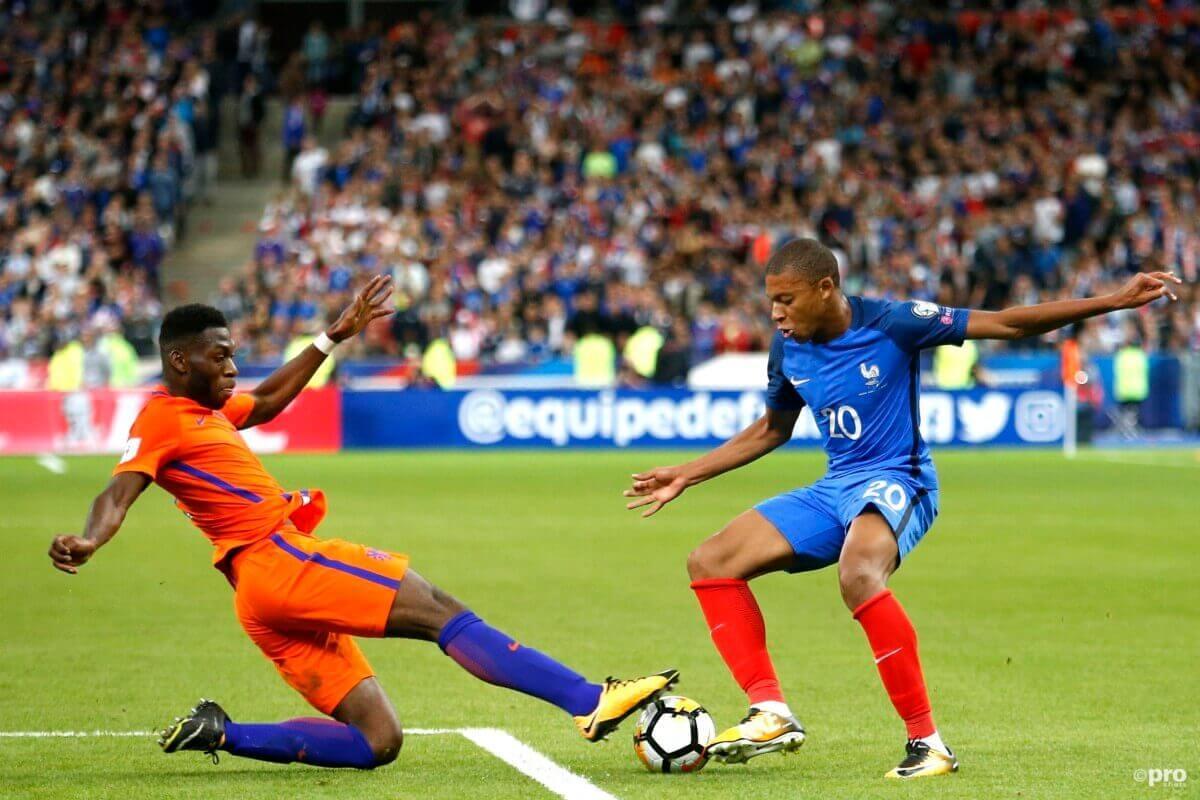 De selectie van Frankrijk tegen Oranje