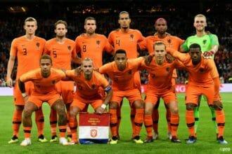De opstelling van Nederland tegen Frankrijk