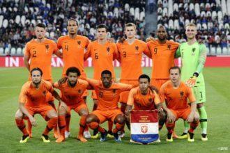 De opstelling voor Nederland – Peru