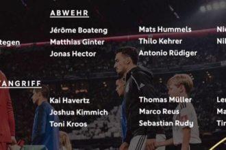 De selecties van tegenstanders België en Duitsland