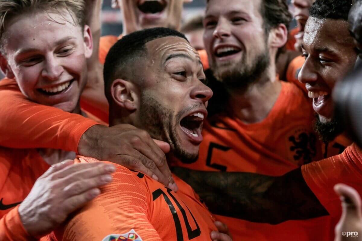 Depay viert doelpunt tegen Frankrijk