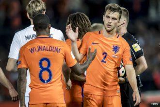 De opstelling van Nederland tegen Estland