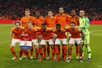 Vermoedelijke opstelling Nederland tegen Estland