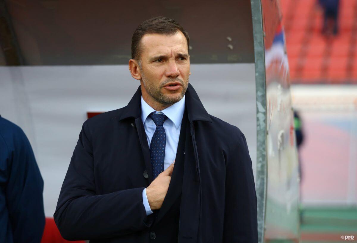 Shevchenko is de bondscoach tijdens Nederland - Oekraïne