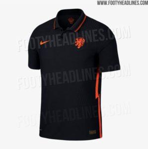 Shirts van Oranje voor EK 2020: het uitshirt de voorkant