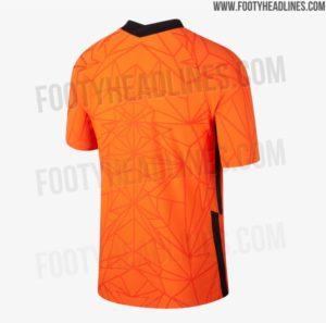 Shirts van Oranje voor EK 2020: het thuisshirt achterkant