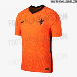 Shirts van Oranje voor EK 2020: het thuisshirt voorkant