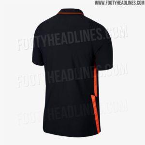 Shirts van Oranje voor EK 2020: het uitshirt de achterkant