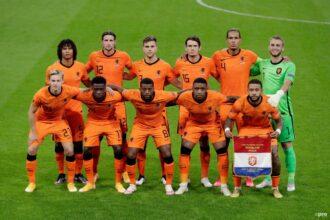 De opstelling van Nederland tegen Bosnië Herzegovina