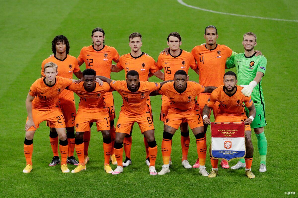 Opstelling Nederland tegen Italië