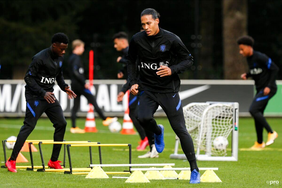 Virgil van Dijk op de training