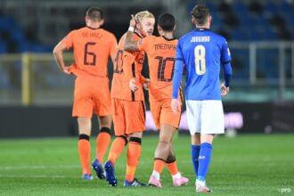 Nederland speelt knap gelijk tegen Italië