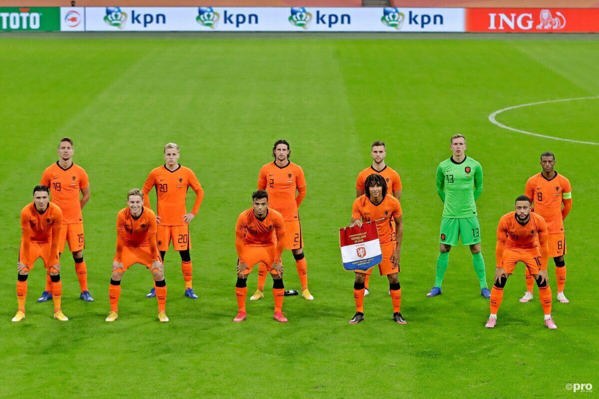 De opstelling van Oranje tegen Spanje