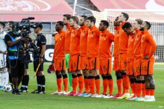 De opstelling van Nederland tegen Georgië
