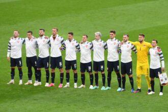 De opstelling van Tsjechië tegen Oranje