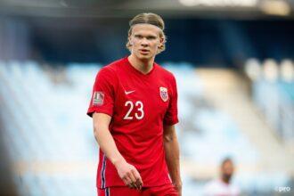 Haaland zet Noorwegen op 1-0