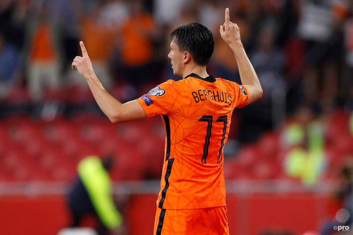 Berghuis is blij met zijn spel bij Oranje