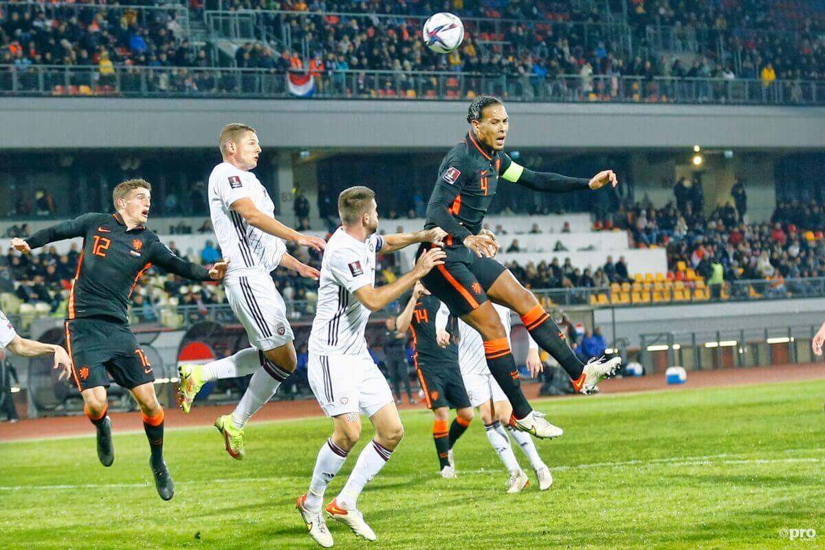 Oranje tegen Letland