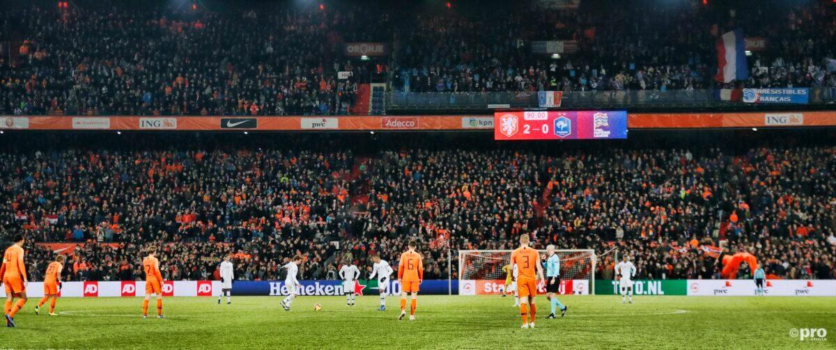 Stadion de Kuip tijdens wedstrijd Oranje