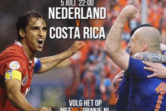 Achtste finale Costa Rica - Nederland