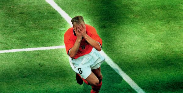 Dennis Bergkamp na zijn goal tegen Argentinië op WK1998 © Pro Shots