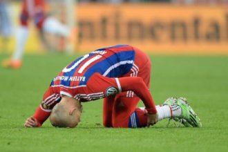 Arjen Robben met een blessure