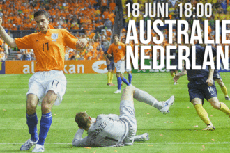 Groepswedstrijd Australië - Nederland