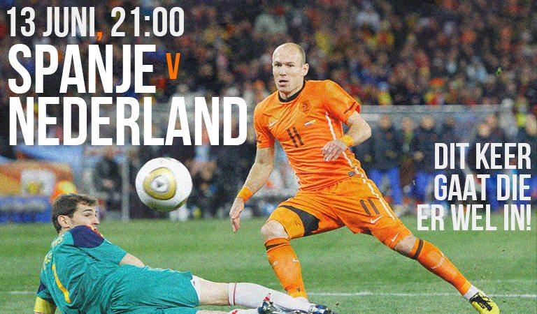 Groepswedstrijd Spanje - Nederland