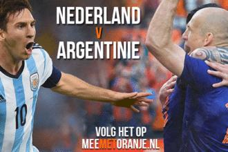 Halve finale Nederland - Argentinië