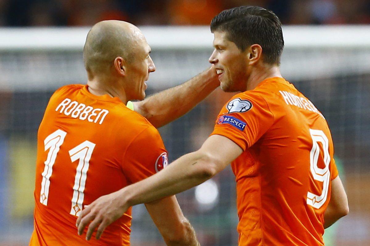 Arjen Robben en Klaas-Jan Huntelaar.