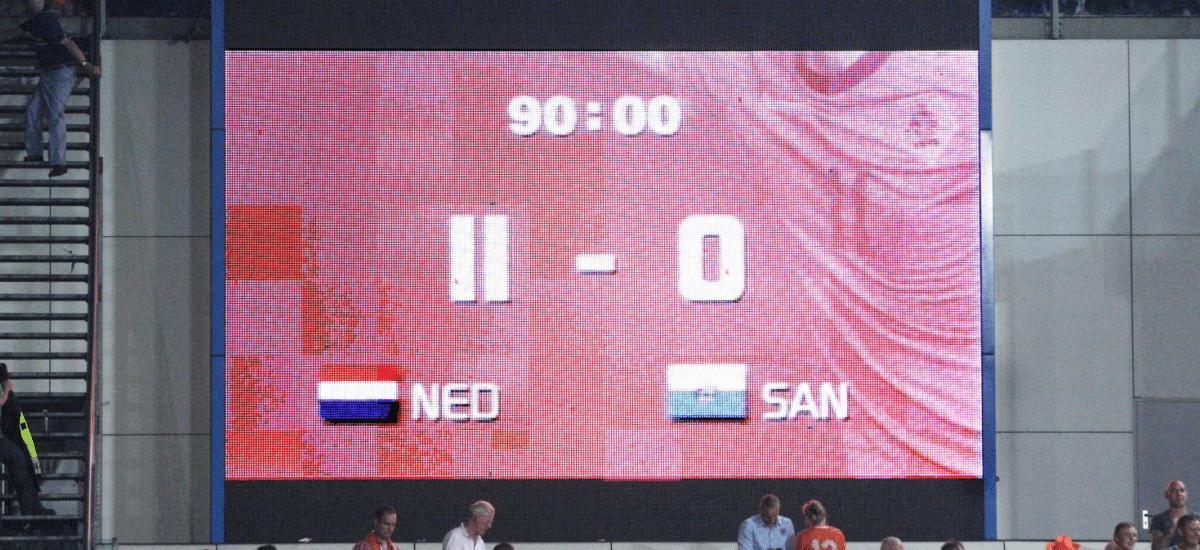 scorebord san marino nederland