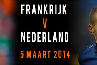 Frankrijk - Nederland 5 maart 2014