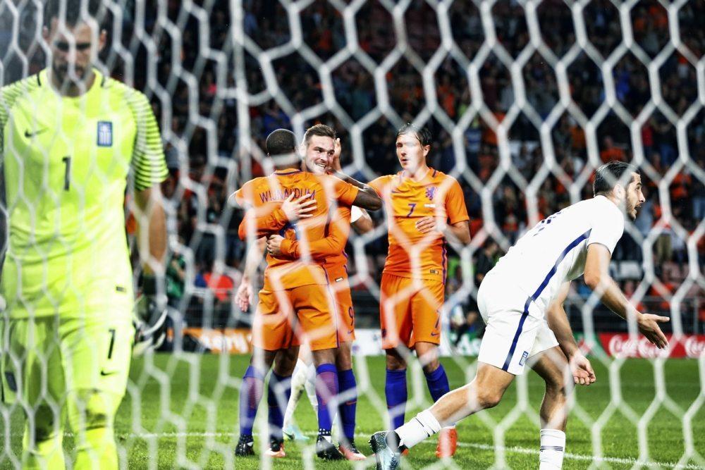 Nederland Griekenland doelpunt Wijnaldum