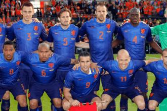 Nederland in het blauw tegen Australië
