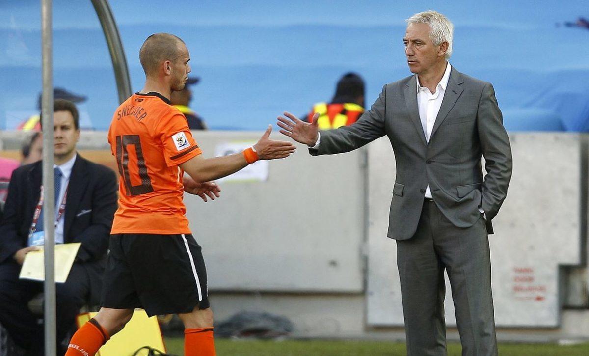 Wesley Sneijder en Bert van Marwijk