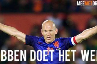 Robben aast op WK-record