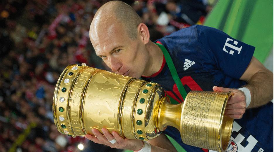 Arjen Robben kust de DFB Pokal