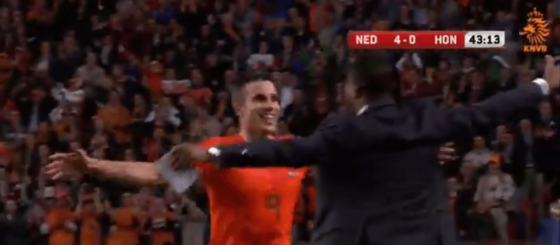 Robin van Persie scoort 40e goal