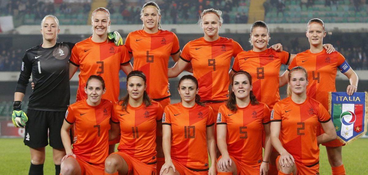 Oranje dames opstelling