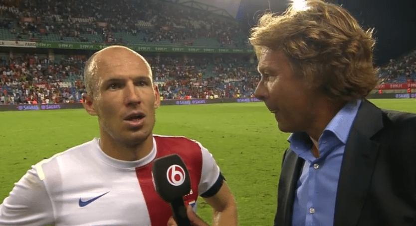Arjen Robben met Hans Kraay