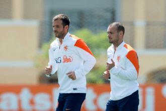 Sneijder en vd Vaart