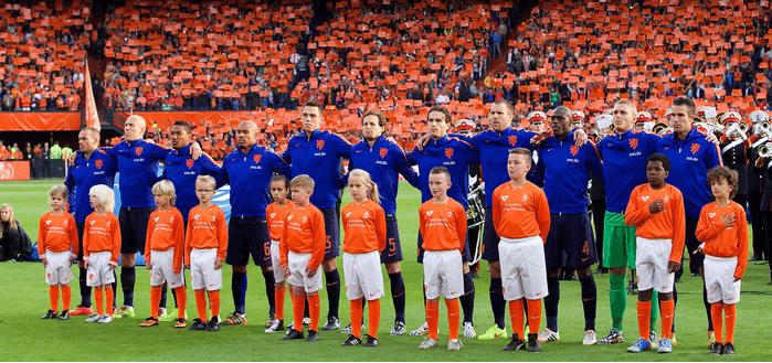 Opstelling Nederland Kazachstan