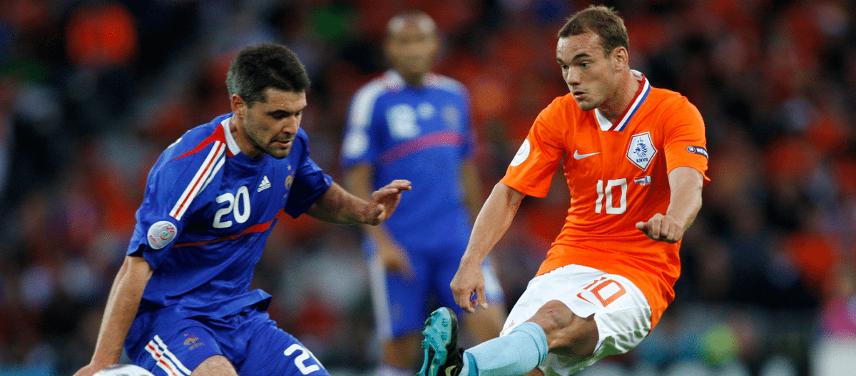 Sneijder tegen Frankrijk